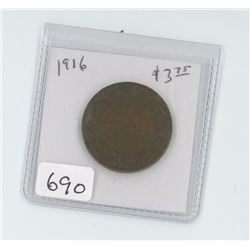1916 CANADIAN LARGE CENT