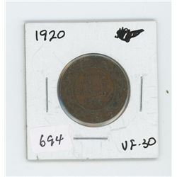 1920 CANADIAN LARGE CENT