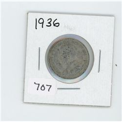1936 CANADIAN 25 CENT