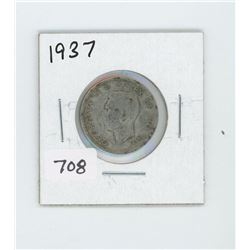 1937 CANADIAN 25 CENT