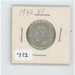 1942 CANADIAN 25 CENT