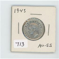 1943 CANADIAN 25 CENT
