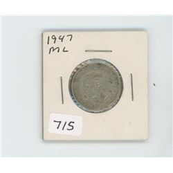1947ML CANADIAN 25 CENT