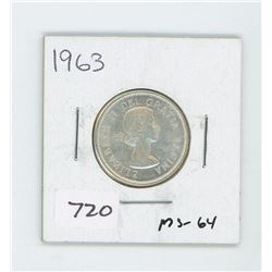 1963 CANADIAN 25 CENT