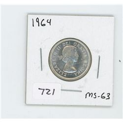 1964 CANADIAN 25 CENT