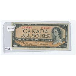 1954 CANADA $50.00