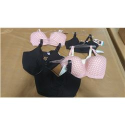 FIVE NURSING BRAS, ASSORTED SIZES