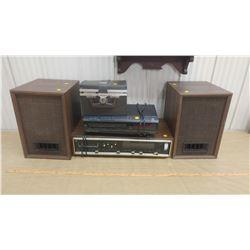 STEREO, 4 SPEAKERS, VCR & 8 TRACKS