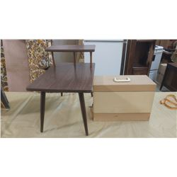 """END TABLE AND SEWING MACHINE CASE - TALBE IS 24"""" X 16"""" X 22"""