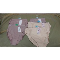 FIVE PAIRS OF UNDERWEAR, ASSORTED SIZES