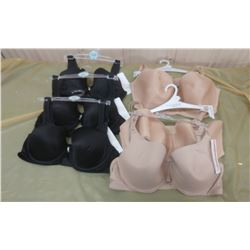 LOT OF SIX BRAS, ASSORTED SIZES