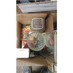 BOX OF ASSORTED ITEMS - NOODLE MAKING MACHINE, GARLIC PRESS, ETC.