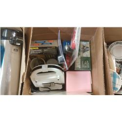BOX OF ASSORTED ITEMS - BUG ZAPPER, MOTION DETECTOR SECURITY LIGHT, ETC.