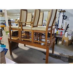 """DINING ROOM TABLE WITH LEAF AND 6 CHAIRS - 64"""" X 40"""" X 29"""""""