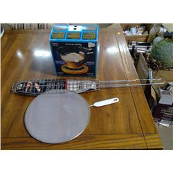 KITCHEN SCALE, FISH BROILER AND FRY PAN COVER