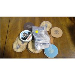 LOT OF ASSORTED COASTERS