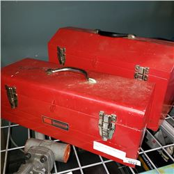 RED STANLEY AND CRAFTSMAN TOOL BOXES