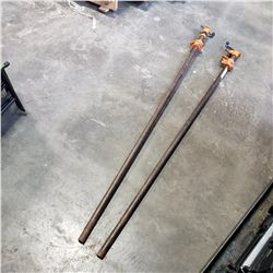 2 5FT BAR CLAMPS