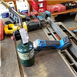 BERNZOMATIC TORCH AND MASTERCRAFT CORDLESS ANGLE GRINDER