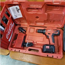 MILWAUKEE 14.4 VOLT CORDLESS DRILL W/ BATTERY AND CHARGER