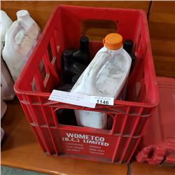 COCA COLA CRATE OF MANUAL TRANSMISSION FLUID AND ANTIFREEZE