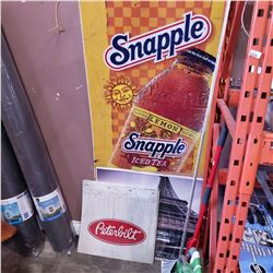 SNAPPLE SIGN, PETER BILT MUD FLAPS AND SIGNS
