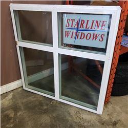 STARLINE WINDOWS 6000 VINYL PICTURE DOUBLE-GLAZED ARGON FILL 47-1/4 INCH SQUARED WINDOW