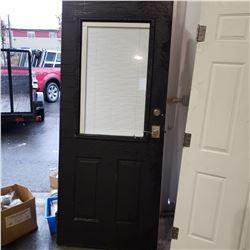 UNFRAMED HALF PAINTED BLACK AND WHITE METAL DOOR WINDOW BLIND INSERT