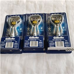 3 NEW GILLETTE FUSION PROSHIELD 5 RAZORS