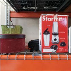 STARTFRIT PERSONAL BLENDER, HAT BOX, LAPTOP BAG, AND HAMPER