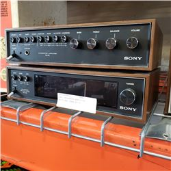 SONY INTEGRATED AMPLIFIER TA-70 AND TUNER ST-70
