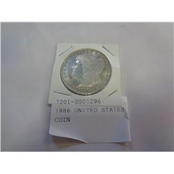 1886 UNITED STATES 26.7 GRAM COIN