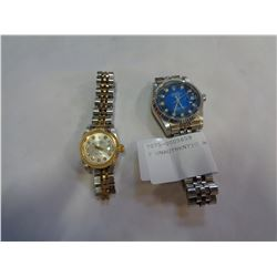 2 UNAUTHENTIC ROLEX WATCHES