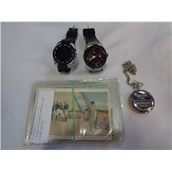VINTAGE POSTCARDS WATCHES AND POCKET WATCH