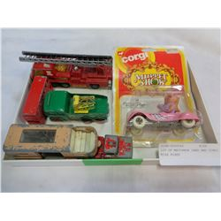 LOT OF MATCHBOX CARS AND CORGI MISS PIGGY