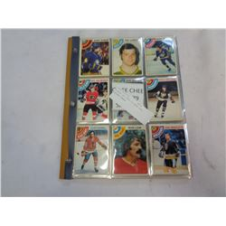 BINDER OF 1978-79 OPEE CHEE HOCKEY CARDS