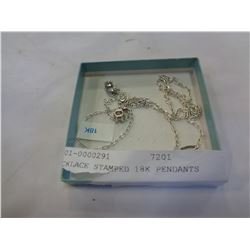 NECKLACE STAMPED 18K PENDANTS