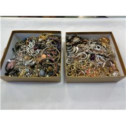 2 TRAYS OF COSTUME JEWELLERY