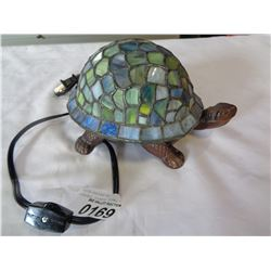LEADED GLASS TURTLE LAMP