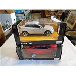2 RASTAR DIE CAST BMW X6 CARS