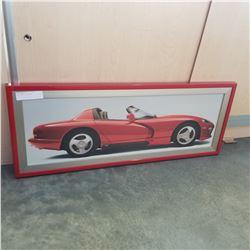 RED FRAMED CAR PRINT