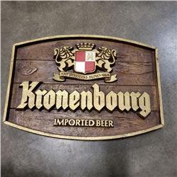 KRONENBOURG BEER SIGN