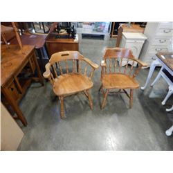 2 MAPLE CAPTAINS CHAIRS
