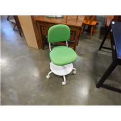 GREEN AND WHITE OFFICE CHAIR