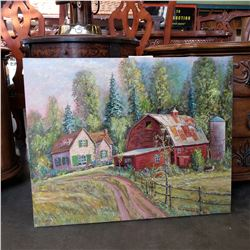 """THE LITTLE FARM"" ORIGINAL PAINTING BY OTTO JEGODTKA"