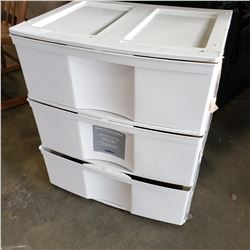 3 DRAWER PLASTIC ORGANIZER
