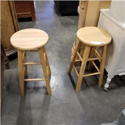 2 MAPLE BAR STOOLS
