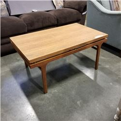 MID CENTURY WOOD COFFEE TABLE