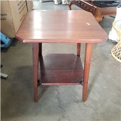 2 TIER WALNUT PARLOUR TABLE