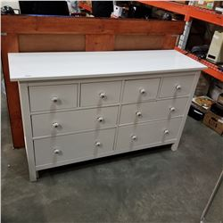 WHITE 7 DRAWER DRESSER